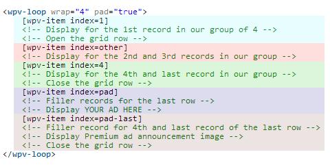 View meta loop parameters