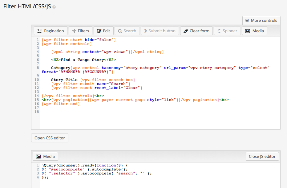 Add jQuery Autocomplete to a VIEWS search filter - Toolset