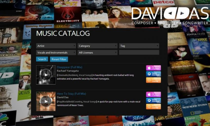 David Das music catalog case study