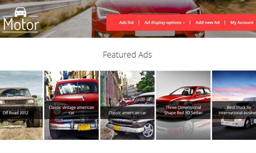 WordPress example classifieds site