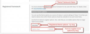 Options for registered theme frameworks in Toolset Settings, under Views Integrations tab