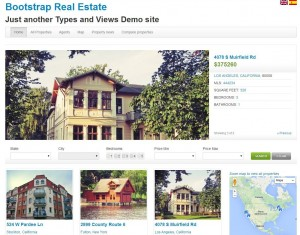 Example real estate site built with Toolset that helped Antonio start with his own