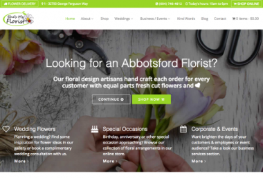 she is my florist site built with Toolset
