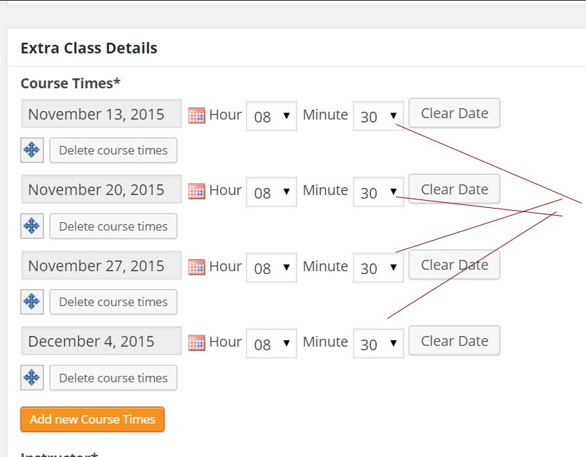 Date field with Input date and time - Toolset