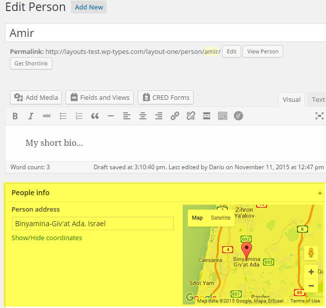 Displaying WordPress Content on Maps - Toolset on gmail address, google aerial view of property, instagram address, google web address, google home address,