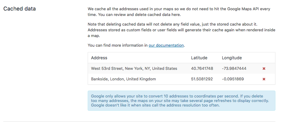 Data Caching For Maps Addresses - Toolset
