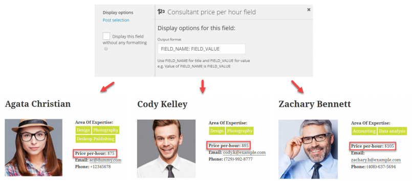 Insertion of a field into the Beaver Builder design is reflected on the front-end for all posts