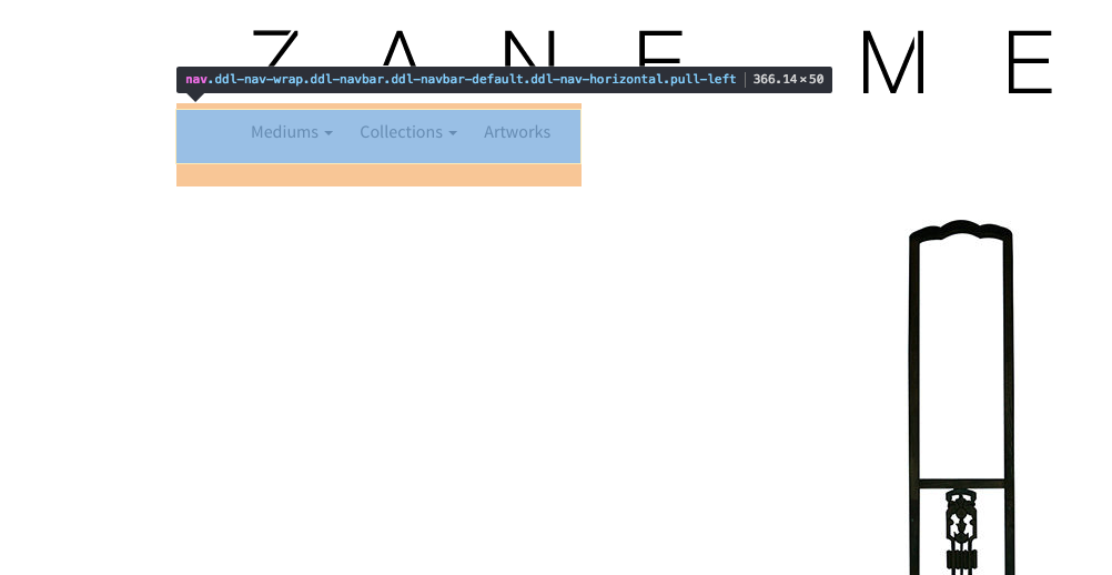left-aligned bootstrap menu has loads of extraneous left