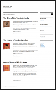 Example of a custom taxonomy term archive page