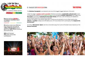 Über das Rototom Festival - Pressematerial aus den Rototom-Archiven