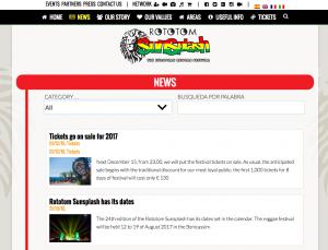 Durchsuchbares Nachrichten-Archiv http://www.rototomsunsplash.com/en/news