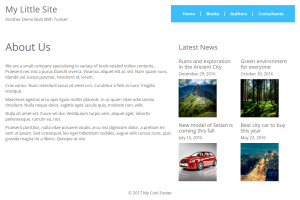 """One of our pages after we added a grid of latest """"News"""" to the layout"""
