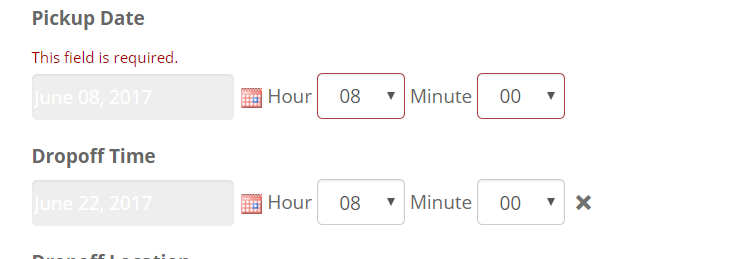 Date time picker to and from selection issue - Toolset