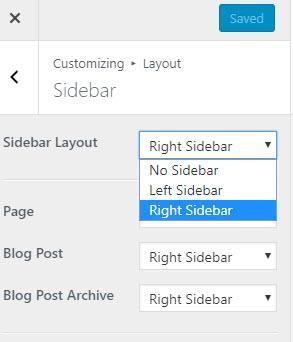Controlling theme options using Customizer
