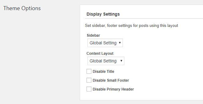 Theme options shown in the Toolset editor