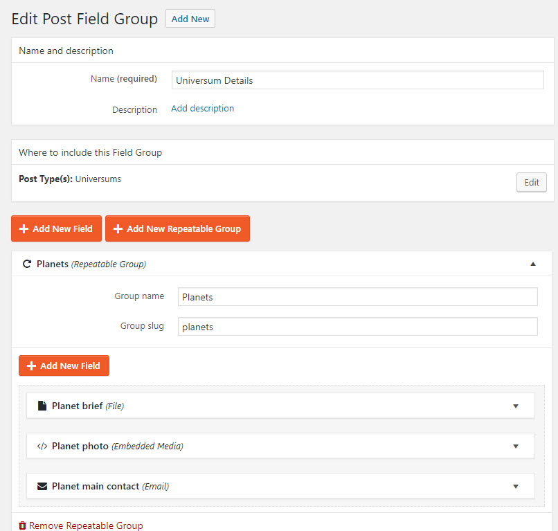 Preview for Nested Repeating Fields Groups - Toolset
