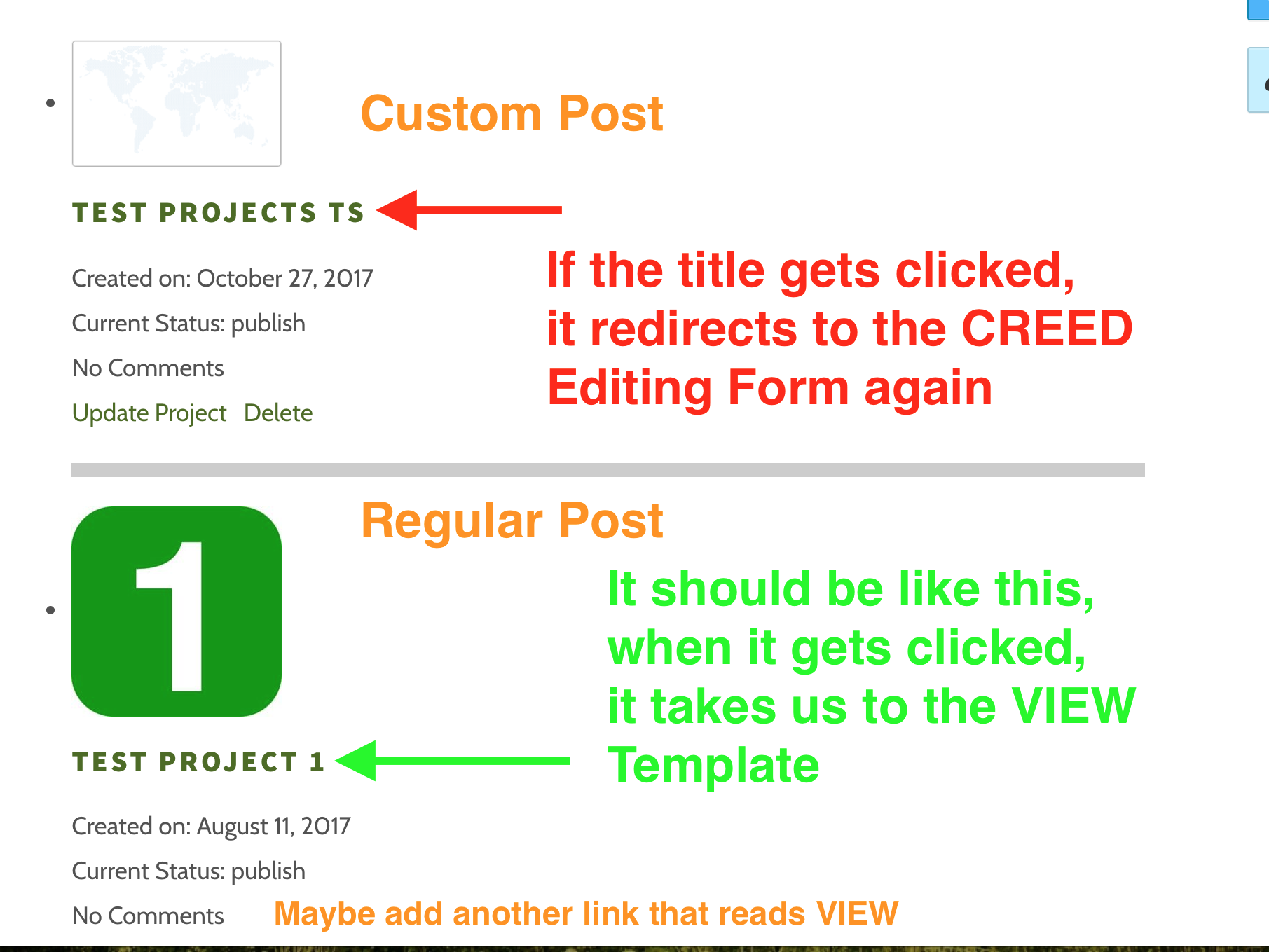 Adding an Edit link on a Post List - Toolset