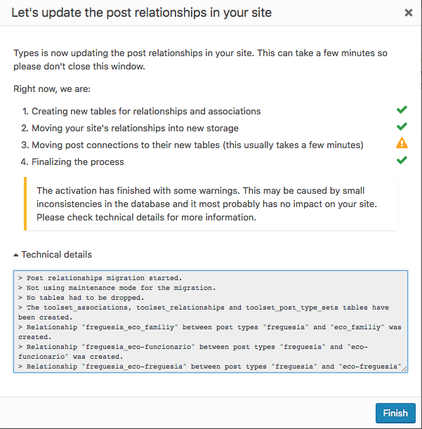 New Toolset Relationships migration and API not working