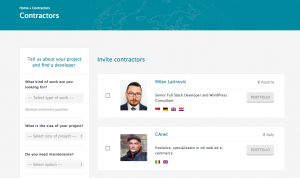 List of contractors with a custom search (wpml.org/contractors)