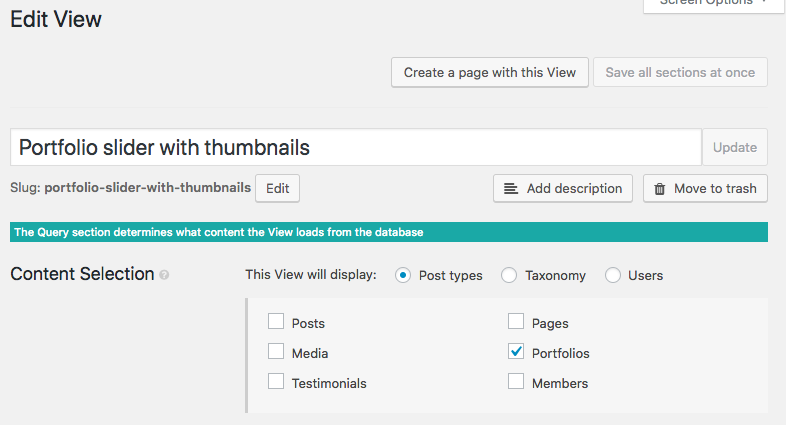 Replace the Portfolio post type with your post type in the main slider