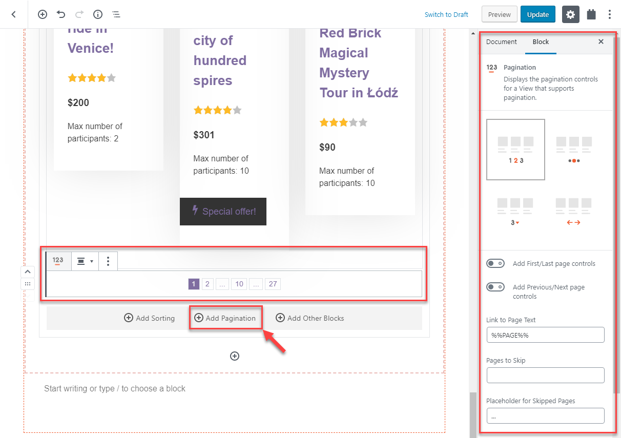 Adding pagination to your Views