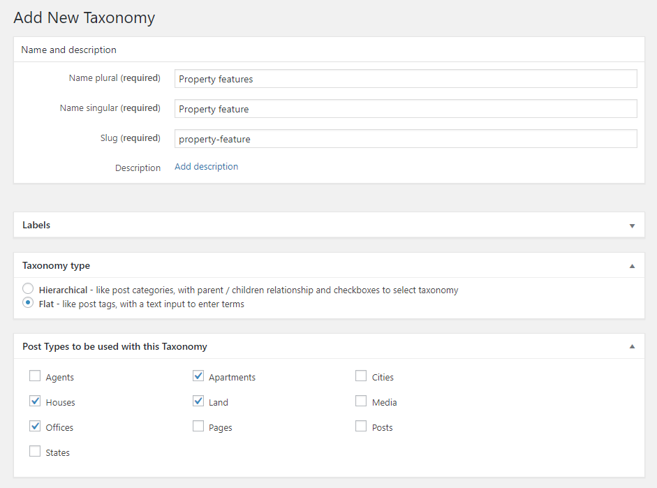 Adding Custom Taxonomy