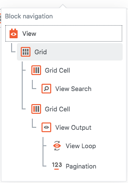 View structure to set up the  View Search and View Output side by side
