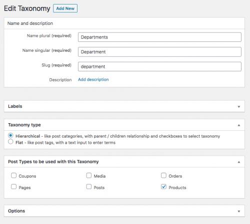 Adding custom taxonomy to WooCommerce Products