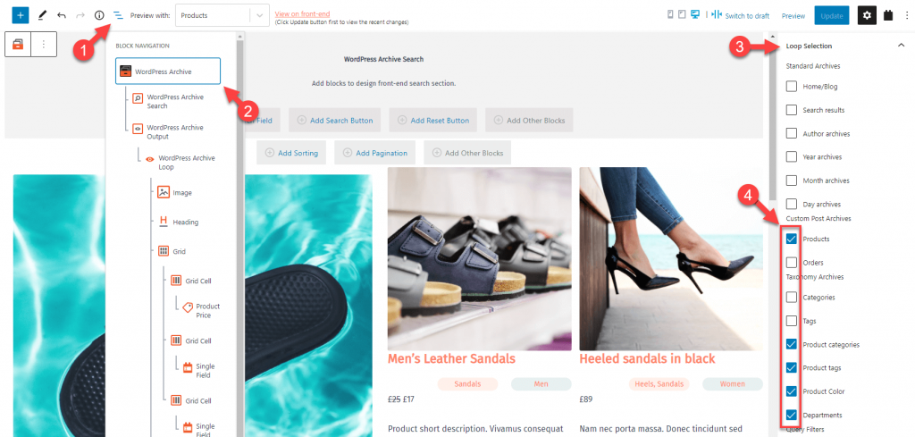 Using the same archive for your product categories, taxonomies, and other product archives