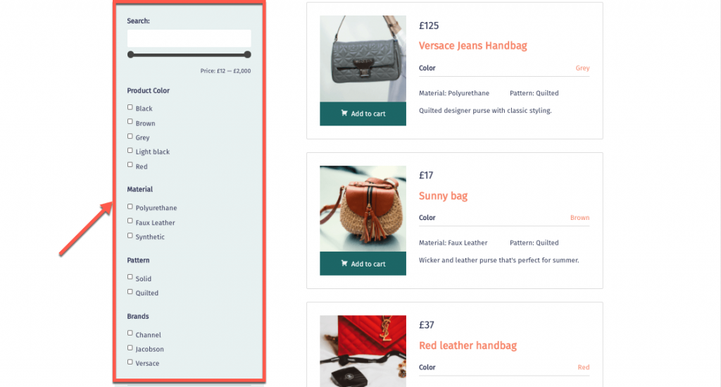 Add custom search options to filter by custom fields and taxonomy