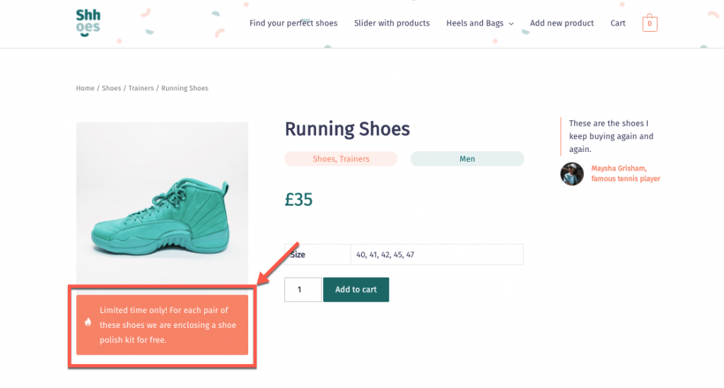 Share special offers using conditional blocks with information from custom fields